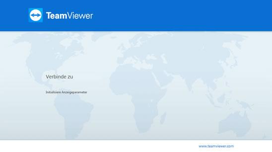 Teamviewer Fehler hängt bei  initalisiere Anzeigeparameter