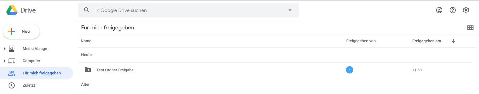 GoogleDrive - freigegebene Ordner synchronisieren ( 1 / 3 )