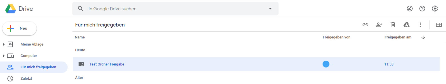 GoogleDrive - freigegebene Ordner synchronisieren ( 2 / 3 )
